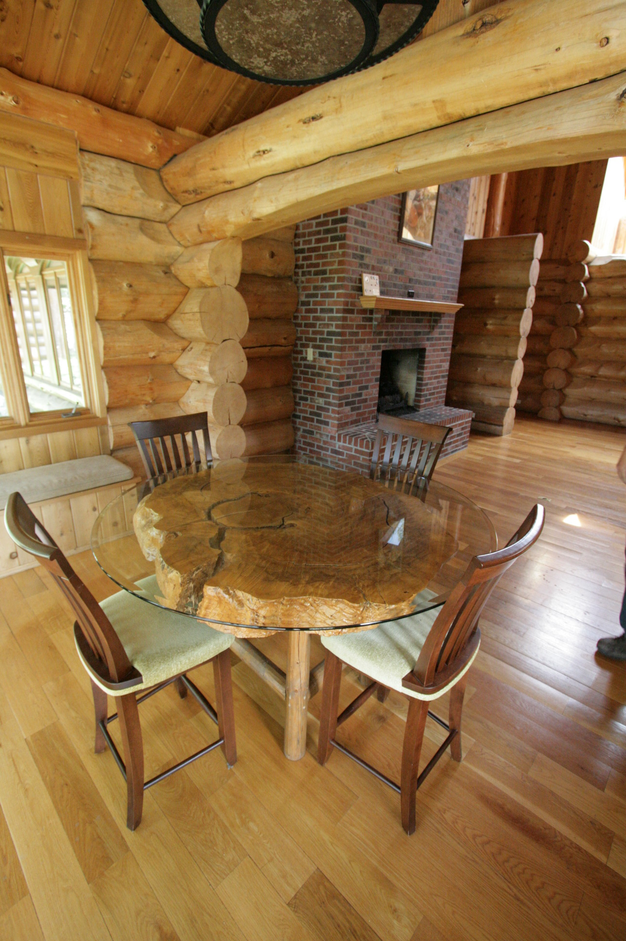 Dining and Fireplace